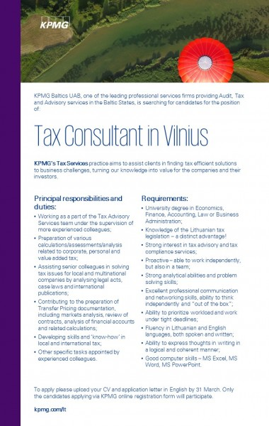 Tax Consultant in Vilnius copy